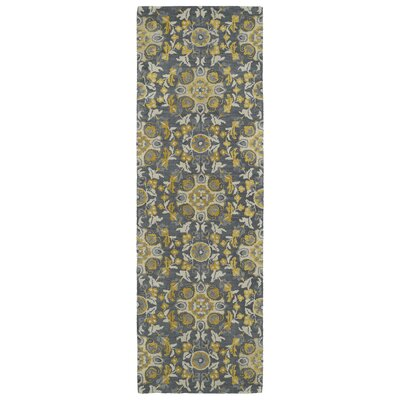 Tunstall Hand-Tufted Wool Gray Area Rug Rug Size: Runner 26 x 8