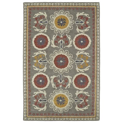 Tunstall Hand-Tufted Gray Area Rug Rug Size: Rectangle 5 x 8