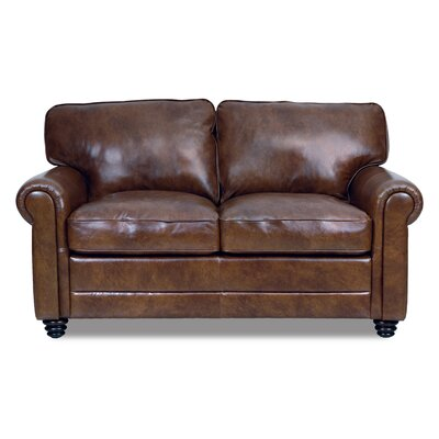 Darby Home Co DBHC4753 27006338 Ardmore Leather Loveseat