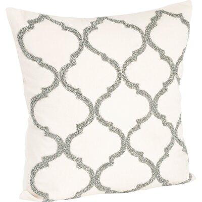 Hensen Moroccan Design Beaded 100% Cotton Throw Pillow Color: Pewter