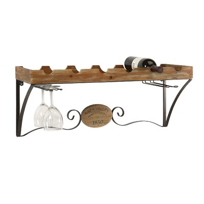 Croftshire 6 Bottle Wall Mounted Wine Rack