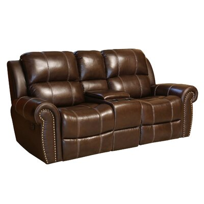 Darby Home Co DBHC4889 27052254 Reclining Leather Loveseat