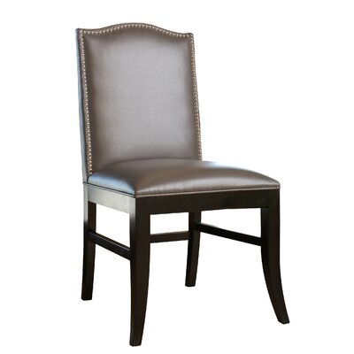 Liston Side Chair Upholstery Grey Leather