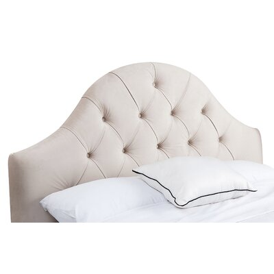 Berwick Upholstered Panel Headboard Size: Full / Queen, Upholstery: Ivory