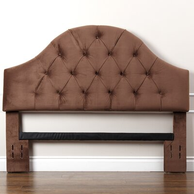 Kerr Upholstered Panel Headboard Size: Full/Queen, Upholstery: Brown