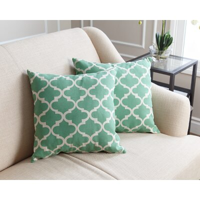 Burbage Cotton Throw Pillow Size: 18 H x 18 W, Color: Green