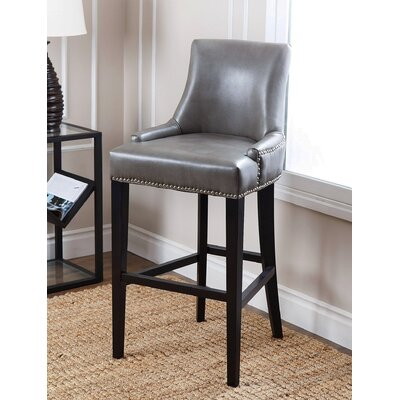 Brogden 30 Bar Stool Upholstery: Grey