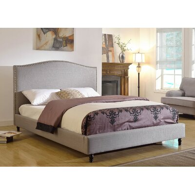 Upholstered Platform Bed Upholstery: Grey, Size: Queen