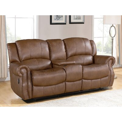 Baynes Leather Reclining Loveseat