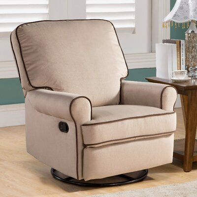 Roquemore Fabric Swivel Glider Recliner Upholstery: Sand