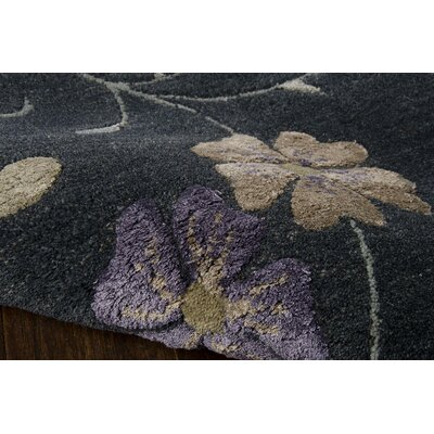 Bansom Hand-Tufted Blue Area Rug