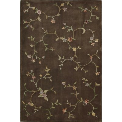 Thornsberry Hand-Tufted Brown Area Rug Rug Size: 79 x 99