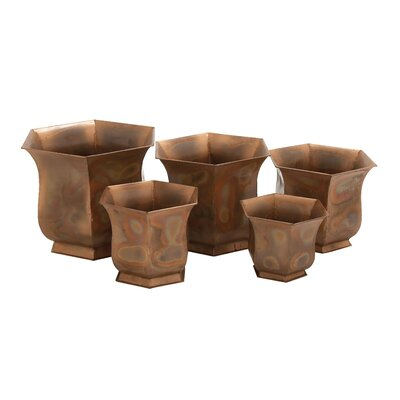 Gunnell 5-Piece Metal Pot Planter Set