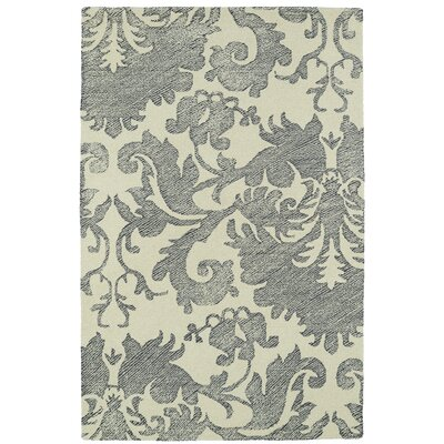 Rosalind Hand-Tufted Wool Beige/Gray Area Rug Rug Size: Rectangle 2 x 3