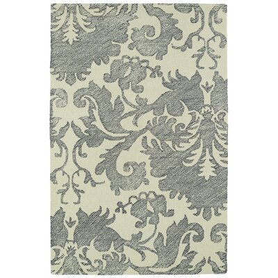 Rosalind Hand-Tufted Wool Beige/Gray Area Rug Rug Size: Rectangle 36 x 56