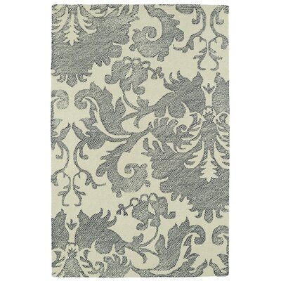Rosalind Hand-Tufted Wool Beige/Gray Area Rug Rug Size: Rectangle 5 x 9