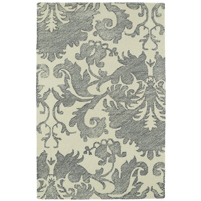 Rosalind Hand-Tufted Wool Beige/Gray Area Rug Rug Size: Rectangle 8 x 10