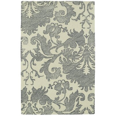 Rosalind Hand-Tufted Wool Beige/Gray Area Rug Rug Size: Rectangle 9 x 12