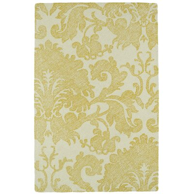 Rosalind Hand-Tufted Gold Area Rug Rug Size: 2 x 3