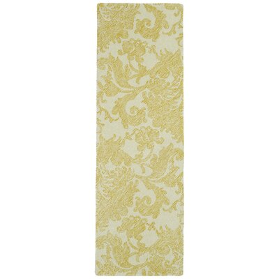 Rosalind Hand-Tufted Gold Area Rug Rug Size: Runner 26 x 8