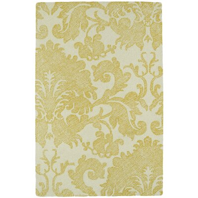Rosalind Hand-Tufted Gold Area Rug Rug Size: Rectangle 36 x 56