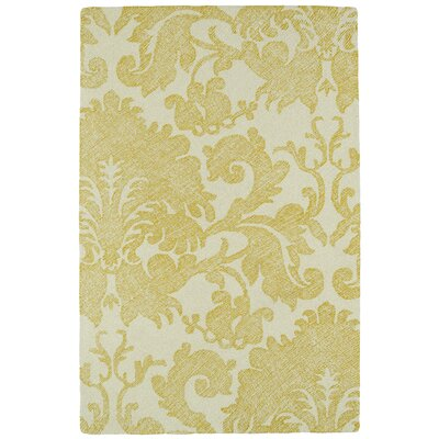 Rosalind Hand-Tufted Gold Area Rug Rug Size: Rectangle 5 x 9