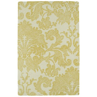Rosalind Hand-Tufted Gold Area Rug Rug Size: Rectangle 8' x 10'