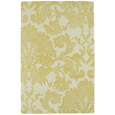 Rosalind Hand-Tufted Gold Area Rug Rug Size: Rectangle 9' x 12'
