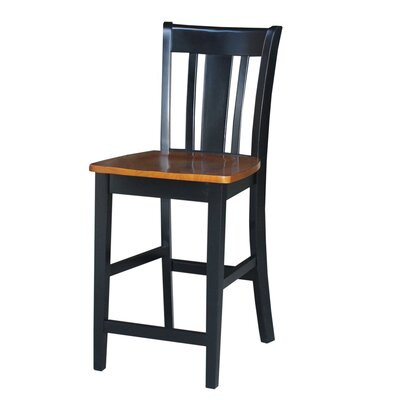 Draper 24 Bar Stool Finish: Black/Cherry