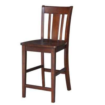 Draper 24 inch Bar Stool Finish: Espresso