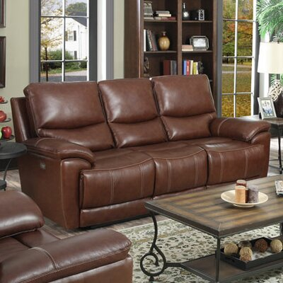 Darby Home Co DBHC2110 25715404 Leather Reclining Sofa