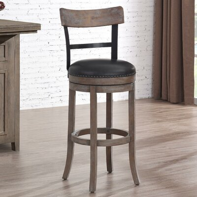 Carondelet 34 Swivel Tall Bar Stool with Cushion