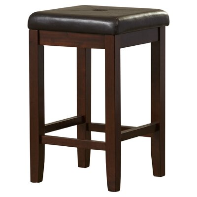 Honor 24 Bar Stool with Cushion Finish: Vintage Mahogany