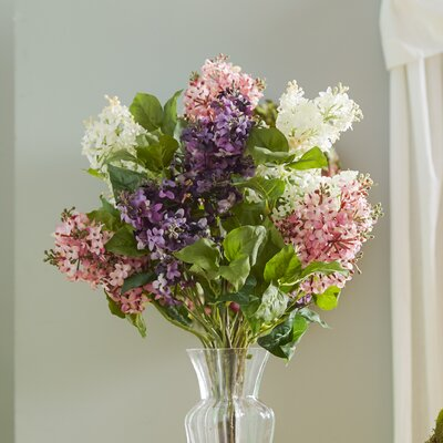 Glenham Lilac Silk Flower Arrangement