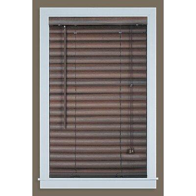 Venetian Blind Size: 35.5 W x 64 L, Color: Mahogany
