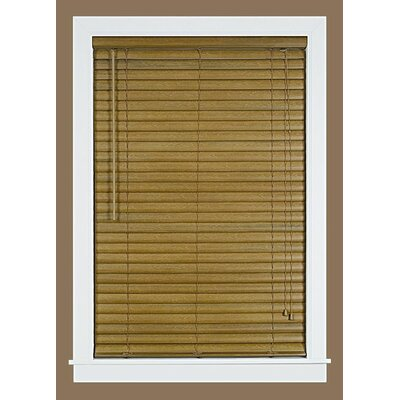 Venetian Blind Size: 22.5 W x 64 L, Color: Woodtone