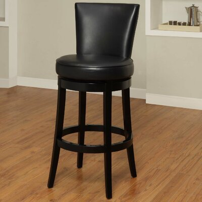 Thornhill 30 Swivel Bar Stool Upholstery: Black
