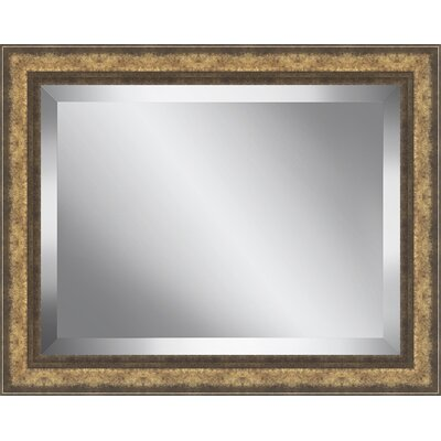 Framed Beveled Plate Glass Mirror Size: Medium