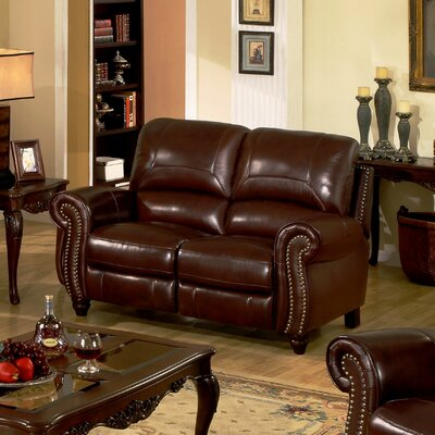 Kahle Leather Reclining Loveseat