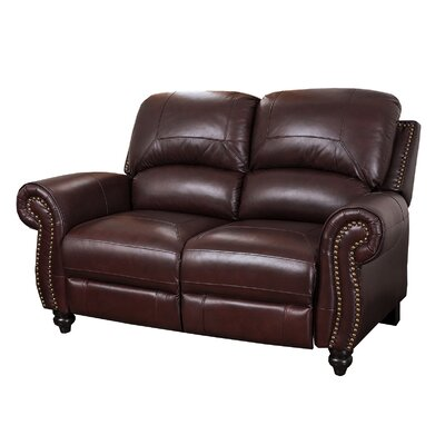 Darby Home Co DBHC5305 27433028 Kahle Leather Reclining Loveseat
