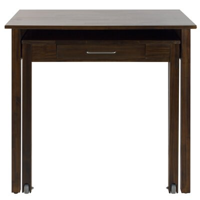 Chisolm Roll Out  Writing Desk Finish: Warm Brown