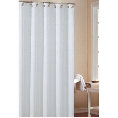 Dehner Polyester Shower Curtain Color: White