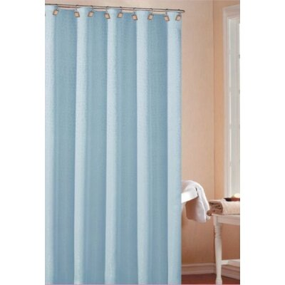 Dehner Polyester Shower Curtain Color: Aqua