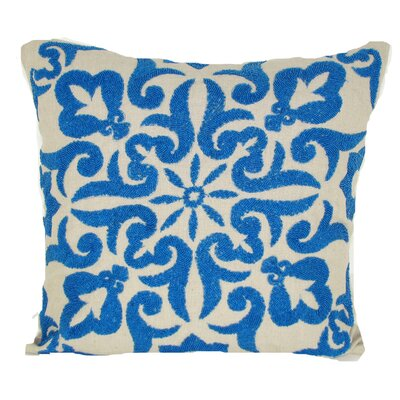 Trembley Linen Throw Pillow Color: Turquoise