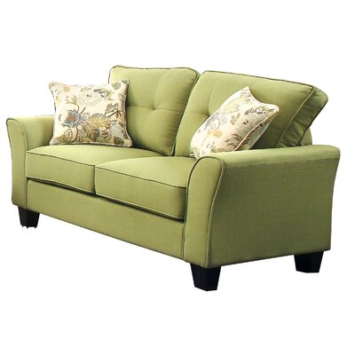 Mcneely Loveseat Upholstery: Green