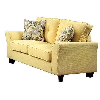 Mcneely Loveseat Upholstery: Yellow