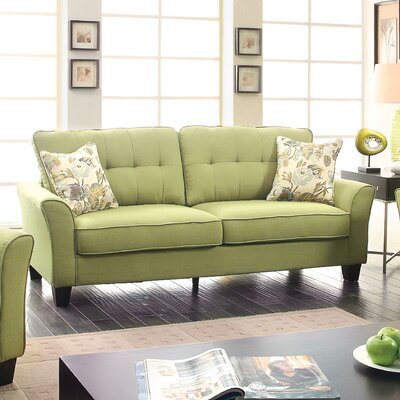 Mcneely Sofa Upholstery: Green