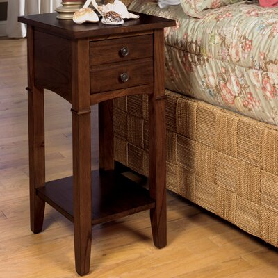 Edgington End Table Finish: Dark Brown Cherry