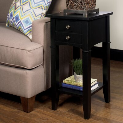 Edgington End Table Finish: Black