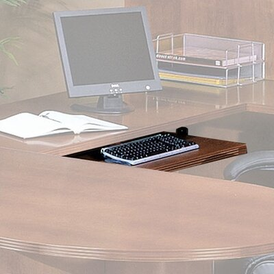 Lemasters 26 H x 12 W Desk Keyboard Tray Finish: Mahogany